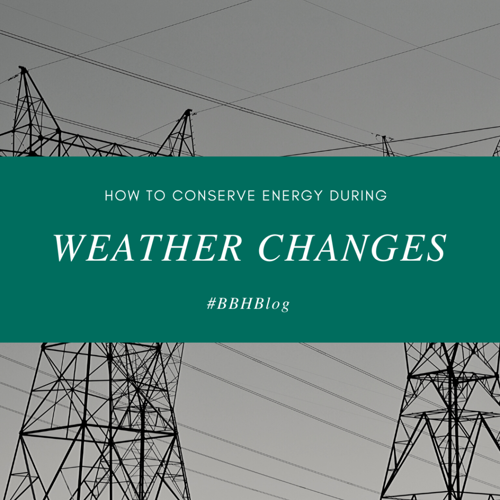 Conserve Energy During the Weather Change banner
