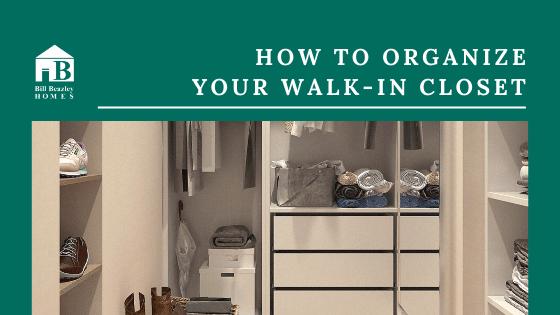 Organize your walkin closet banner