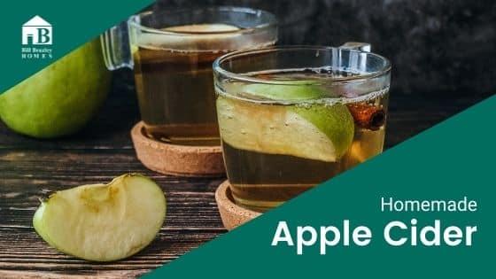 Homemade apple cider banner