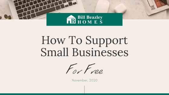 How to support small businesses for free banner
