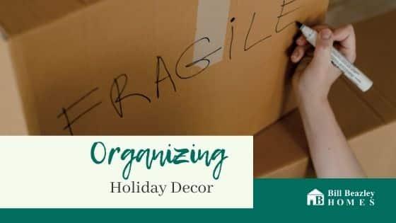Organizing holiday decor banner