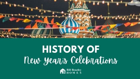 History of new years celebrations banner
