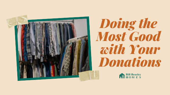 Doing the most good with your donations banner