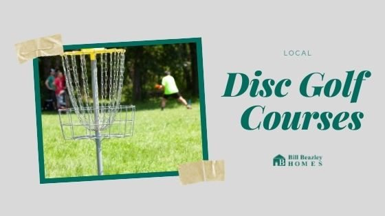 Local disk golf course banner