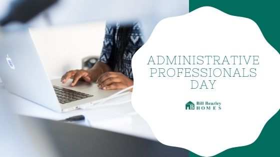 An image of Administrative Professionals day banner.