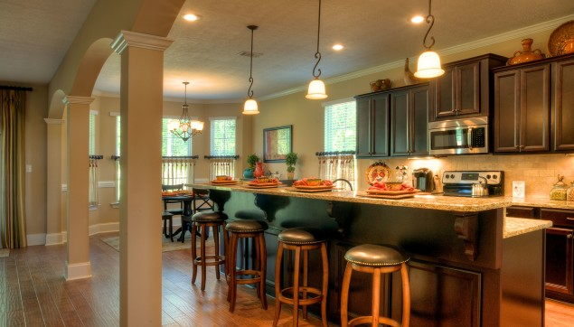 An image of breakfast bar in Haynes Station kitchen.