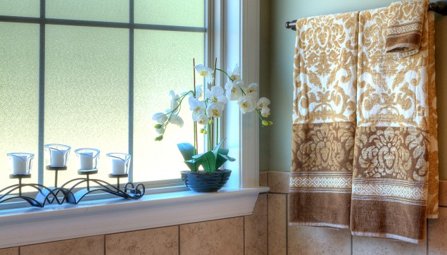 An image of decorative bathroom in Haynes Station.