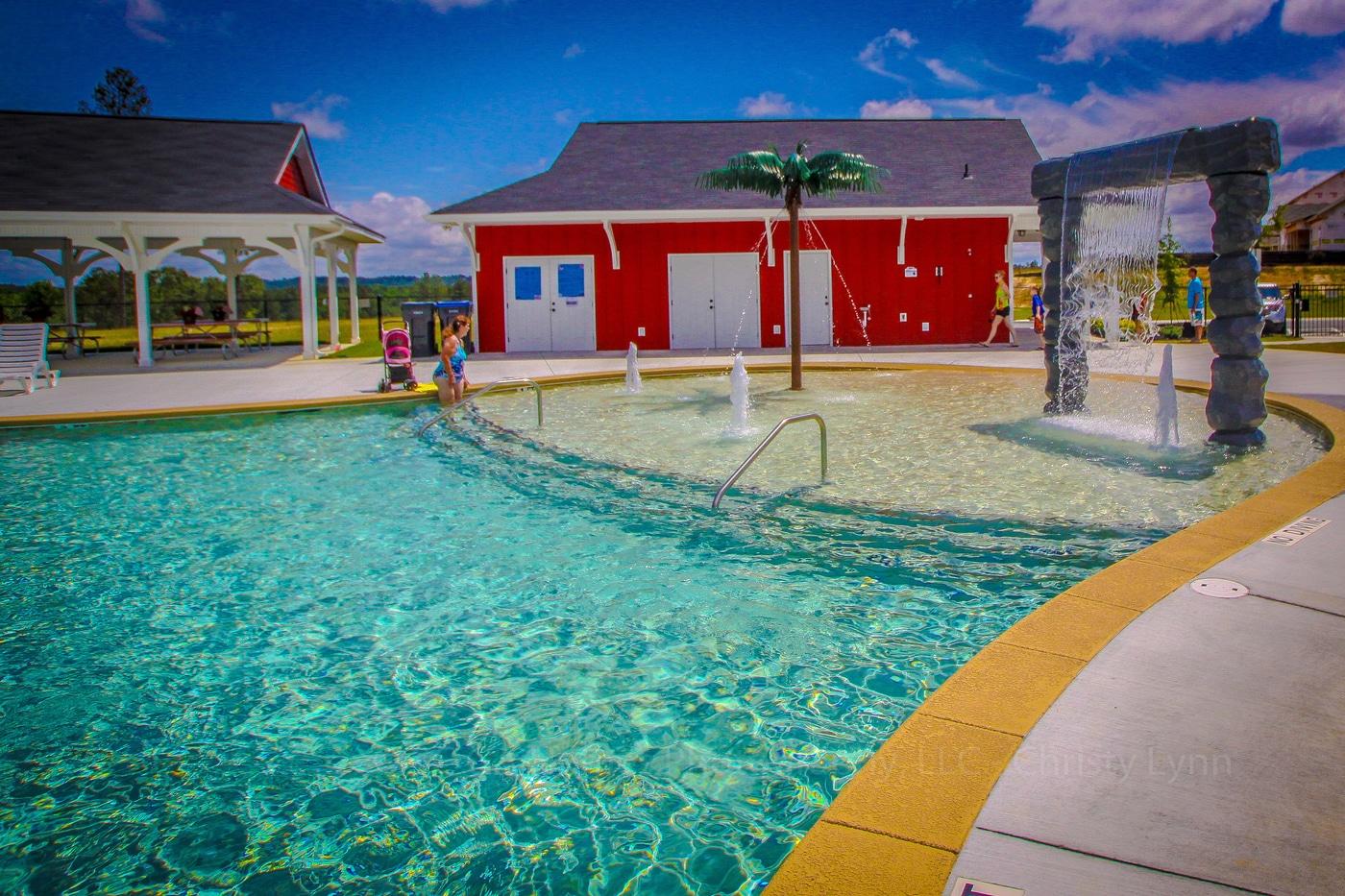Haynes Station pool with kid area.