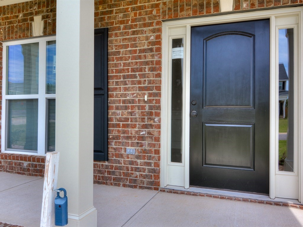 An image of the front door of a southhampton home.