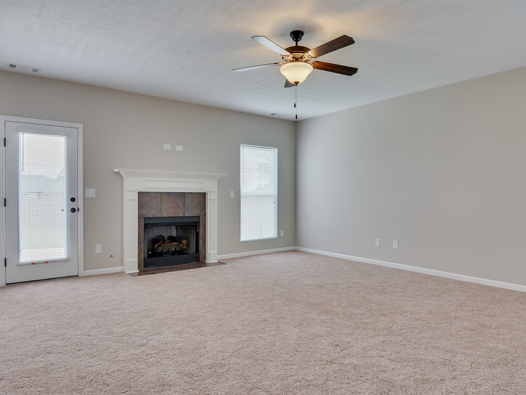 An image of Southhampton living room with fireplace.
