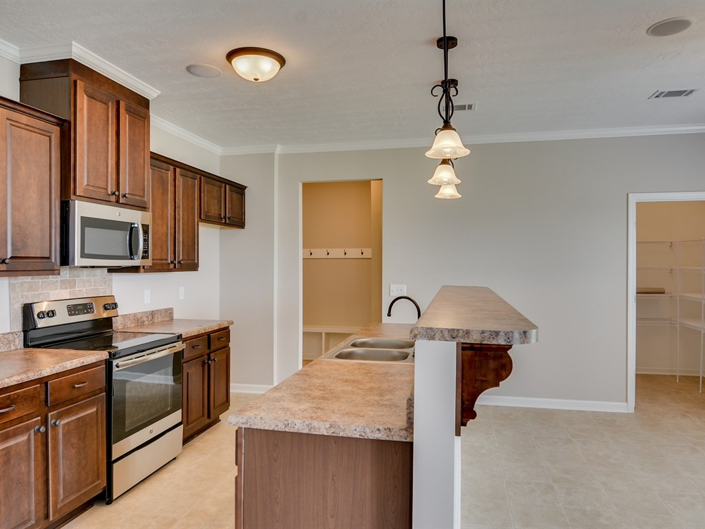 An side view of the kitchen in southhampton home.