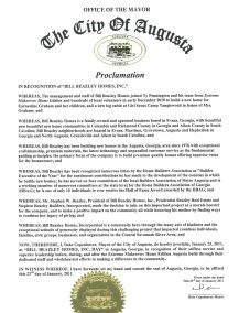 Image of the August Proclamation Document.