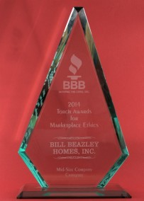 Image of the BBB Torch Award.