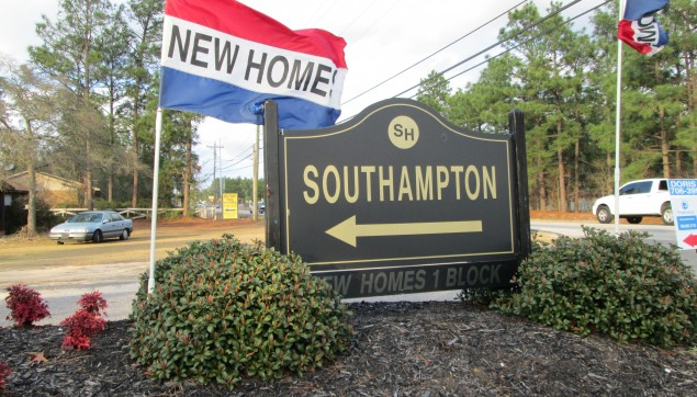 An image of southhampton sign in development.