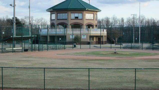 An image of the baseball field near south hampton.