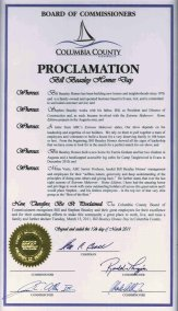 Image of the Proclamation Document Signed.