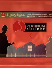 Image of the StrucSure Home Warranty's Platinum Builder Award.