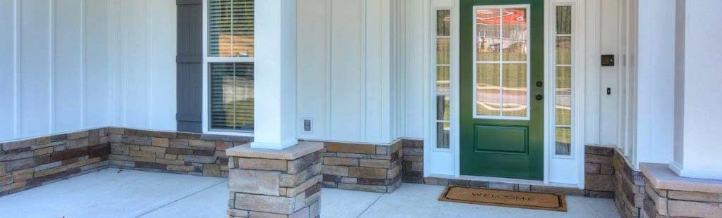 An image of the front entrance of an easy access home.