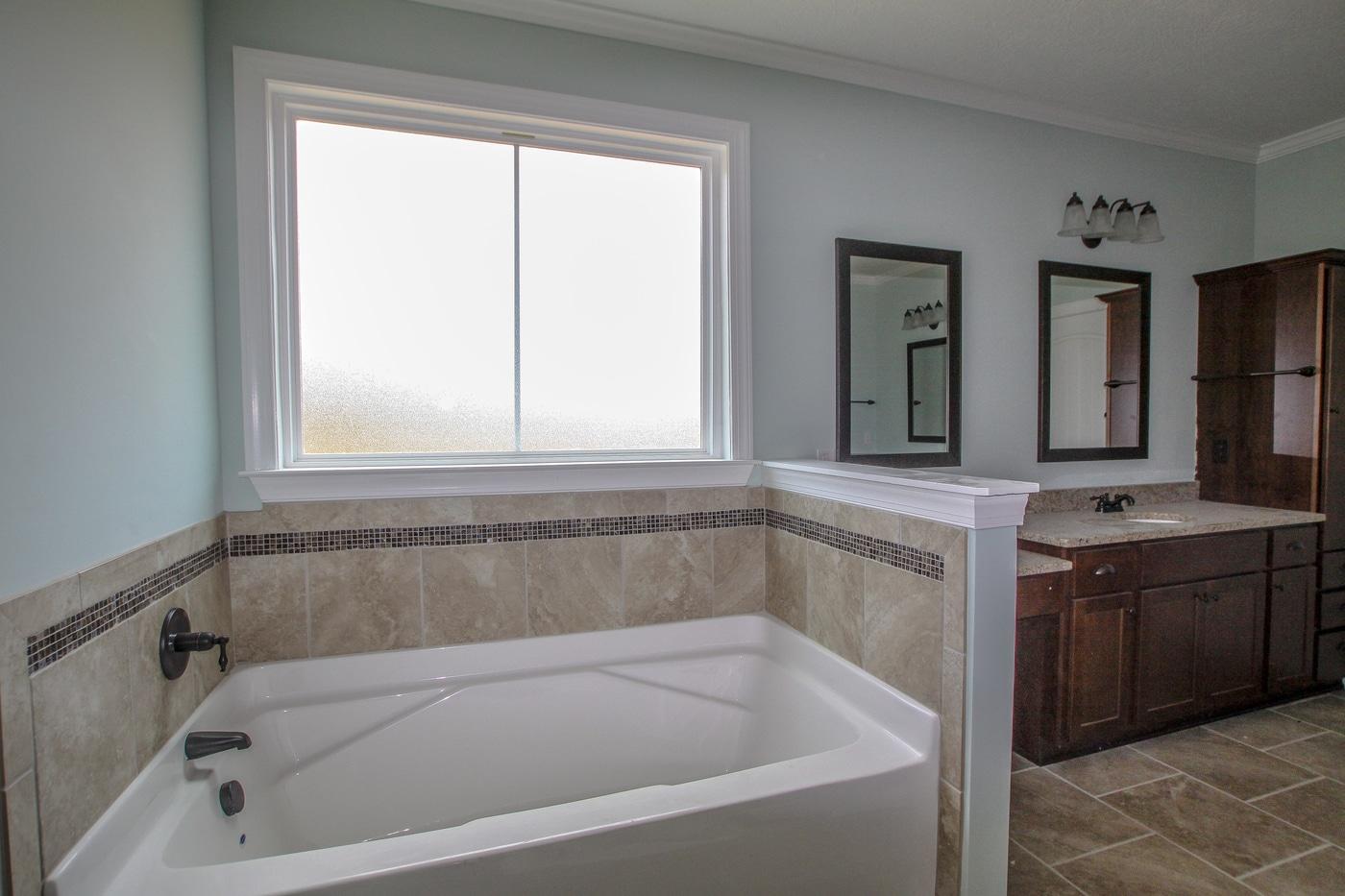 An image of a Kelarie home bathroom tub.