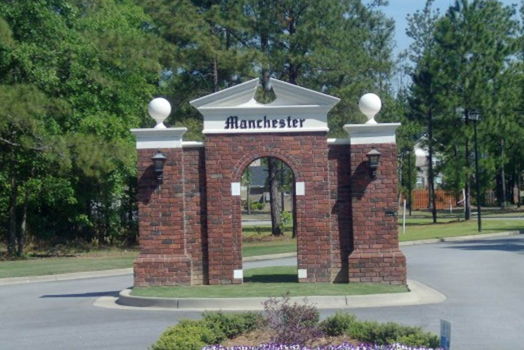 An image of the front entrance to Manchester front sign.