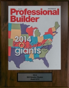 Image of the Top Professional Builder Award.