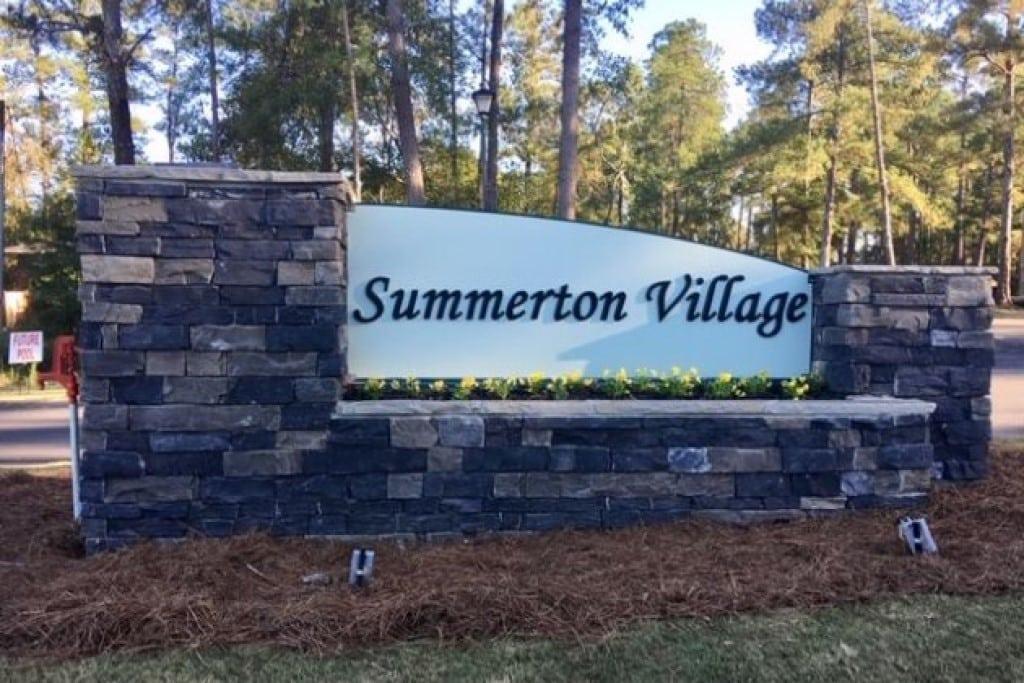 Summerton Village Sign