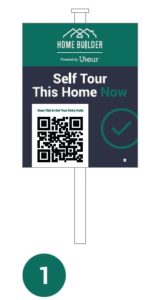 Self Tour Sign with QR code