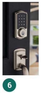 image of door with digital keypad